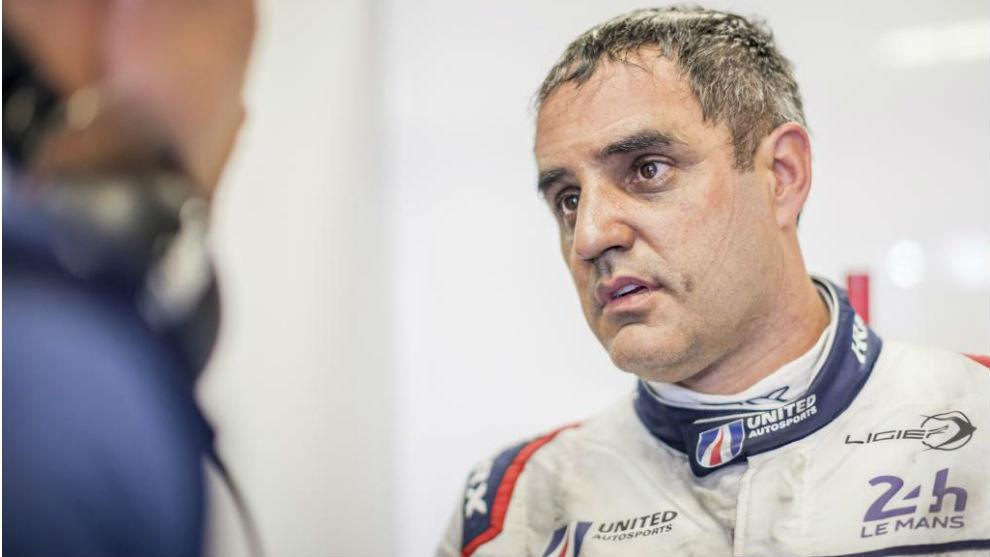 Juan Pablo Montoya, en Le Mans en 2018.
