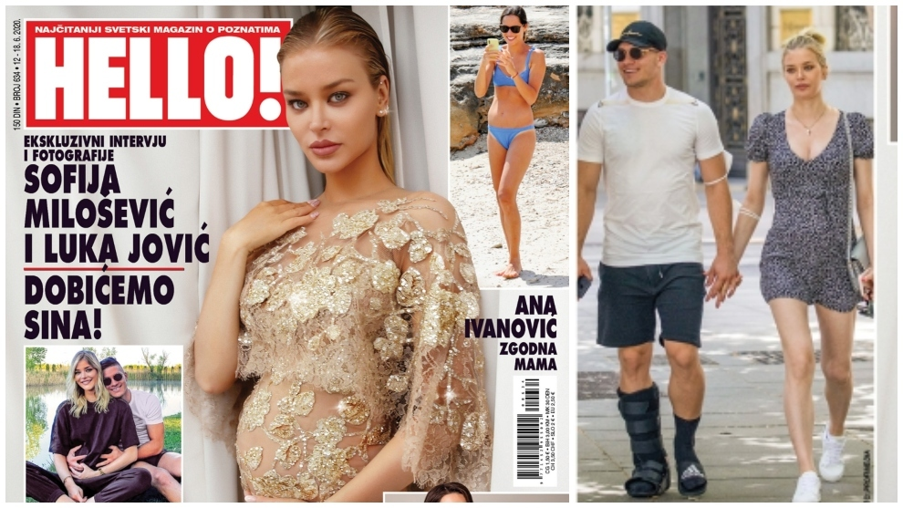 Luka Jovic and Sofija Milosevic feature on the front cover of Hello...