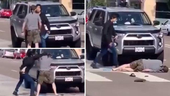 Brutal KO de un hombre asiático a un supremacista blanco que le acosaba