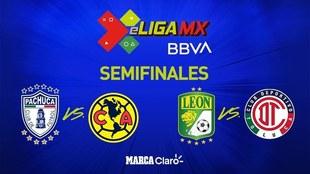 Así se jugarán las semifinales de la eLiga MX.