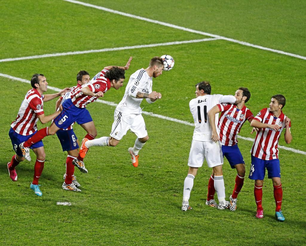 Sergio Ramos cabecea el 1-1 en la final de la Champions de 2014