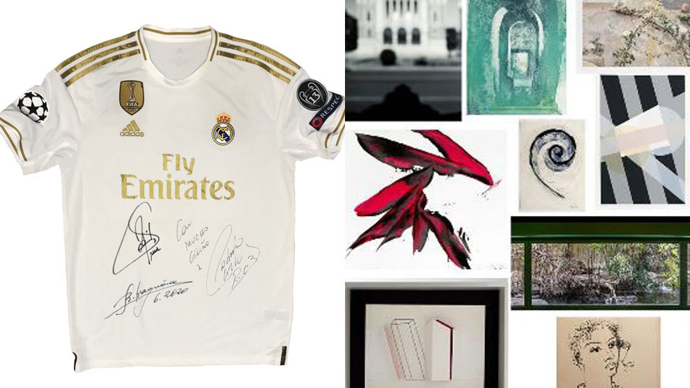 Real Madrid shirt included in charity art auction