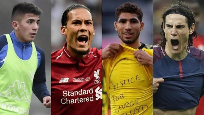 Thiago Almada, Van Dijk, Achraf  y Cavani son algunos de los nombres...