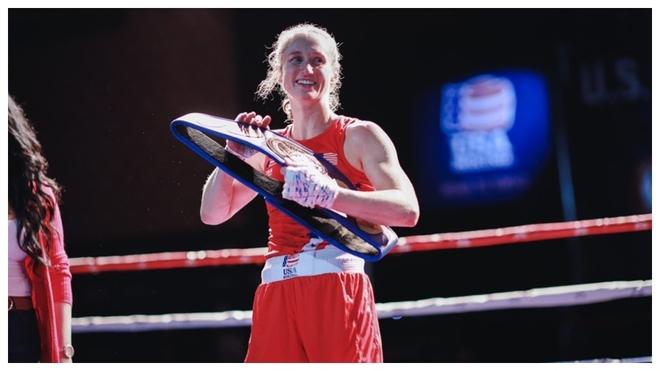 La boxeadora estadounidense Virginia Fuchs