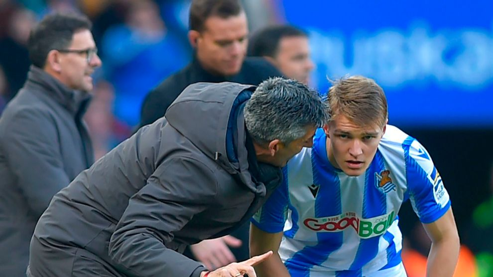 Imanol believes that Odegaard will stay at Real Sociedad for one more season