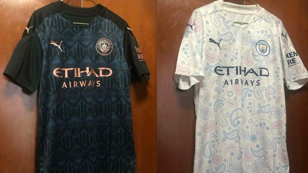Las posibles nuevas camisetas del Manchester City para la temporada...