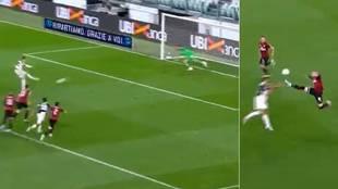 Cristiano regresa fallando un penalti... y segundos después Rebic hace un 'De Jong' escalofriante y ve la roja
