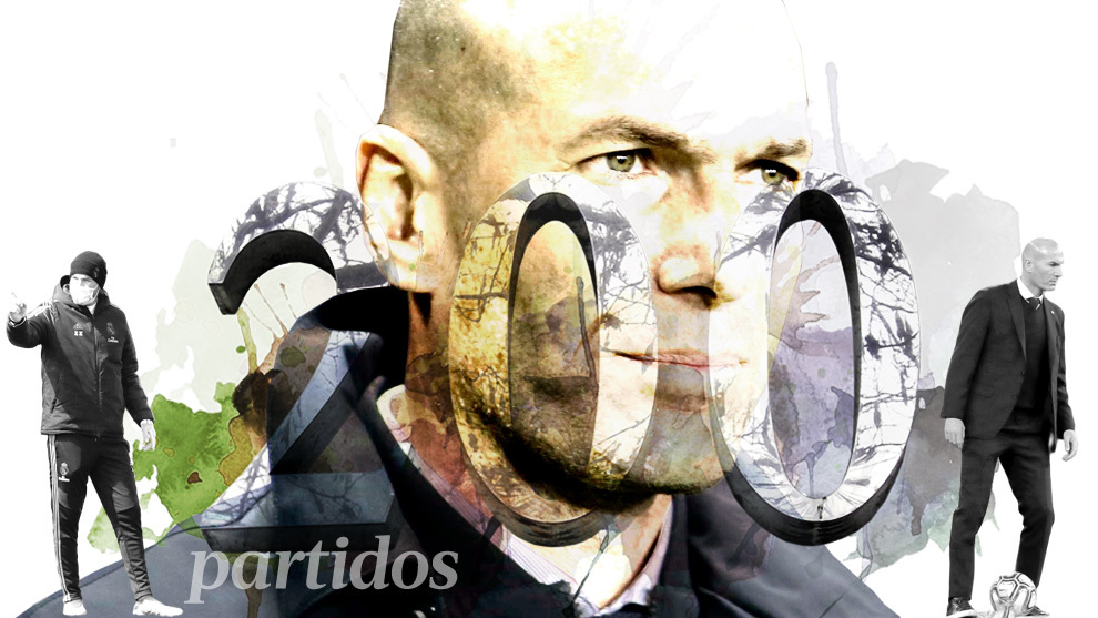 Zidane reaches his 200th match as Real Madrid coach