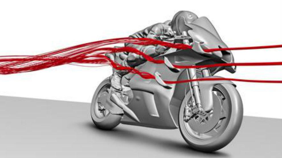 Estudio aerodinámico de Ducati.