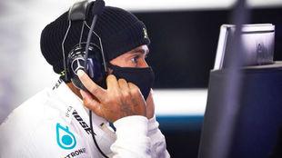 Lewis Hamilton, en un test con Mercedes.