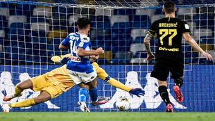 Mertens anota el tanto del empate ante el Inter