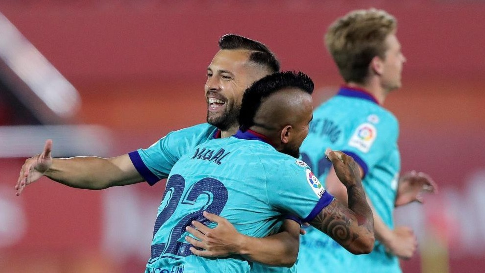 Jordi Alba: After three months without playing, Barcelona had a great game
