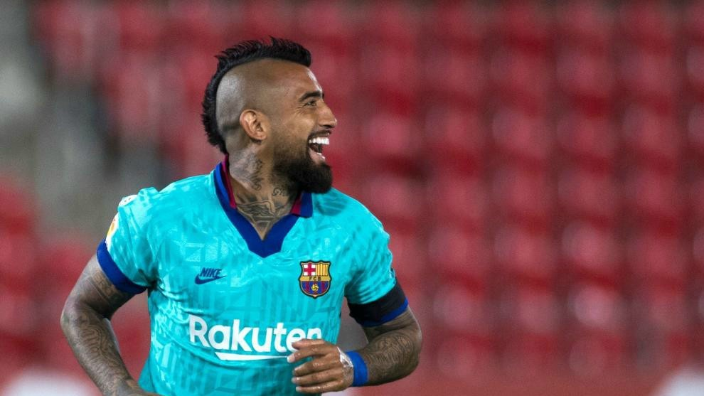 Arturo Vidal scored against Mallorca.