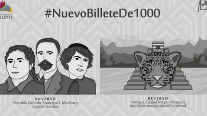 Así será la nueva imagen del billete de mil pesos.