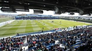 Imagen del estadio Alfredo di Stéfano en un entrenamiento del Real...
