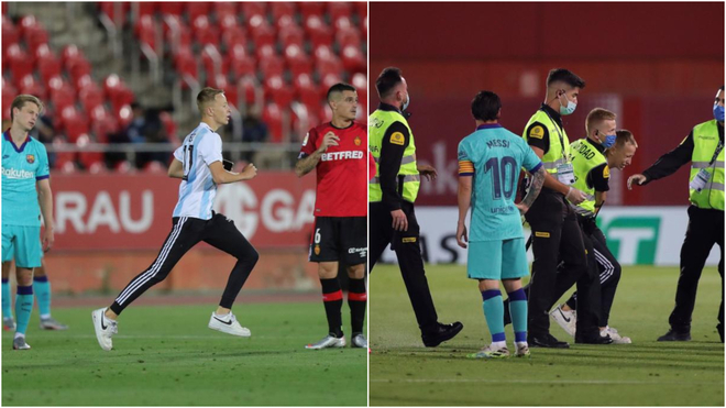 LaLiga to file lawsuit against Mallorca-Barcelona pitch invader