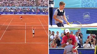 Djokovic invita a un niño a su 'pachanga'... ¡y el chaval le rompe con una dejada épica!