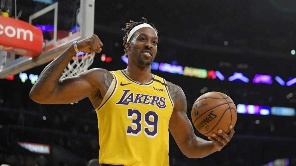 Howard, en un partido con los Lakers