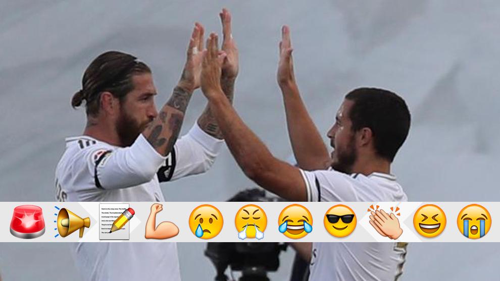 Ramos y Hazard celebran el 2-0