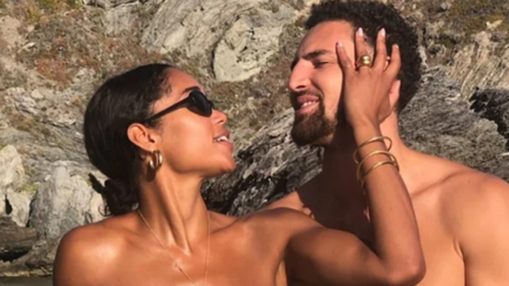 Actress Laura Harrier describes relationship with Klay Thompson as 'abusive'