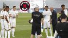 Zidane, enfadado con sus jugadores en la pausa de hidratación