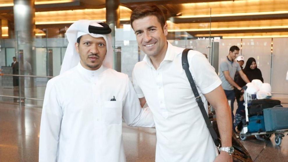Gabi, en el momento de irse a jugar a Qatar hace dos años.