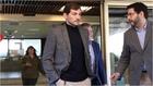 Iker Casillas saliendo del CSD, tras una reunión con Irene Lozano.