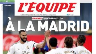 L'Equipe se 'vuelve' madridista