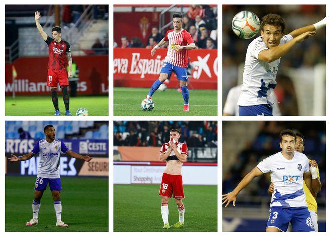 Merquelanz, Manu, Milla (arriba de izquierda a derecha), Suárez,...