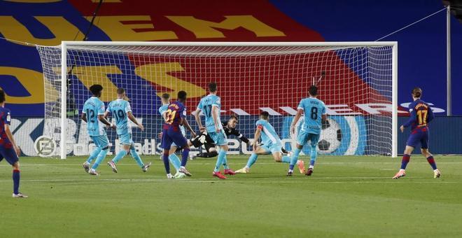 Por ahí entró el gol de Ansu.