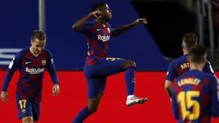 Ansu Fati, en un partido del Barcelona