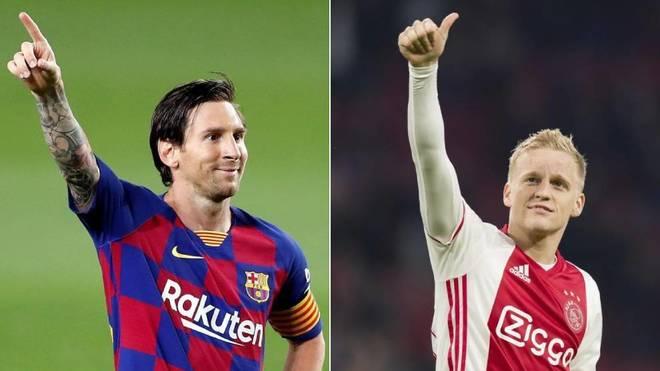 Messi and Van de Beek