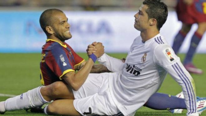 Dani Alves: The most difficult opponent I've faced was Cristiano Ronaldo