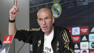 El entrenador del Madrid atendió a la prensa de manera telemática