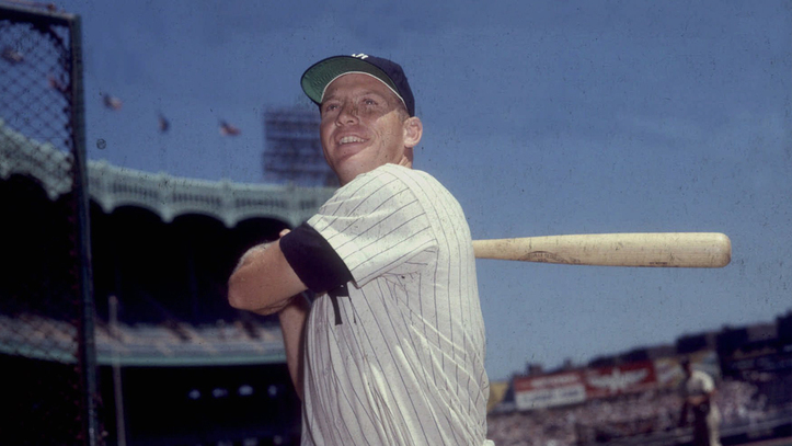 Mickey Mantle jugando con los New York Yankees