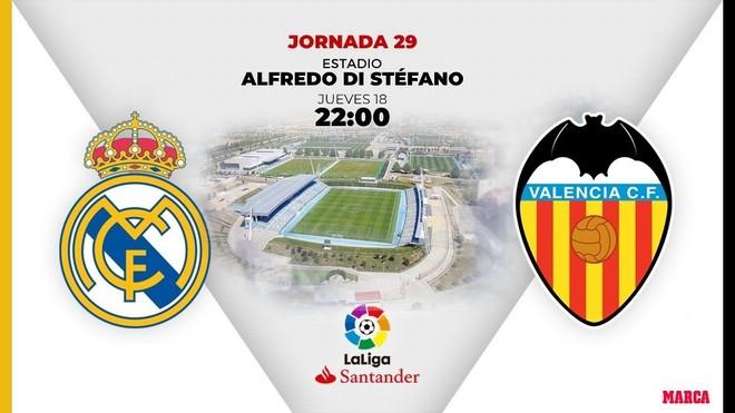 Real Madrid - Valencia: horario, canal y dónde ver en TV hoy el partido de Liga