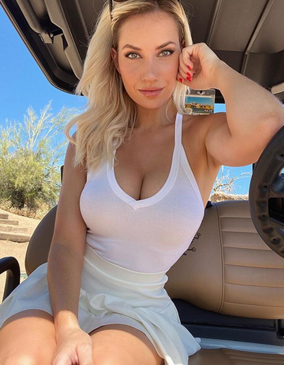 La golfista viral Paige Spiranac vuelve a jugar al golf tras su...