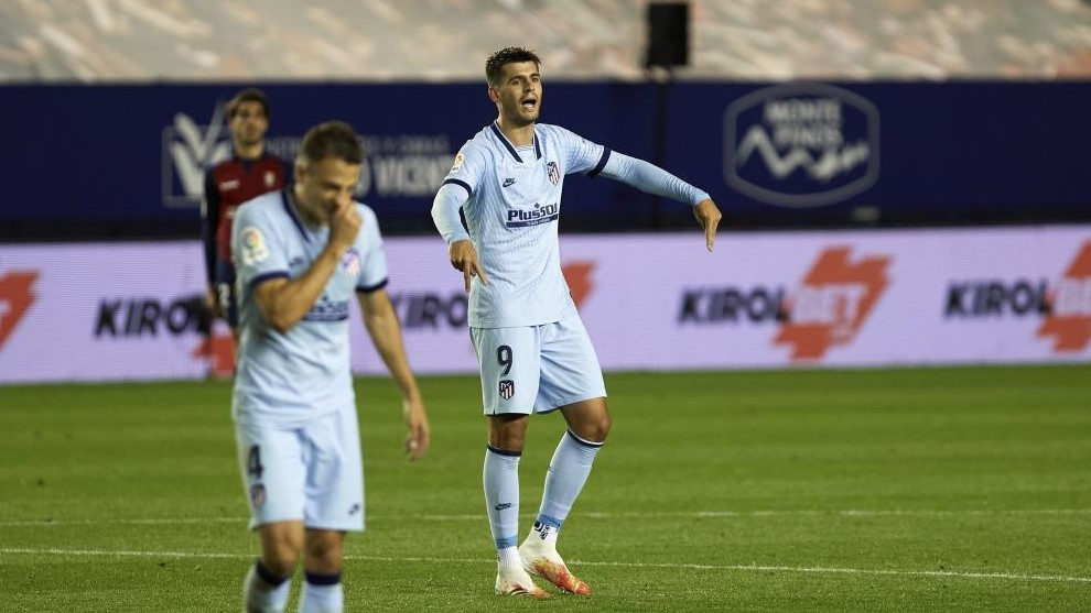 Morata celebra su gol a Osasuna