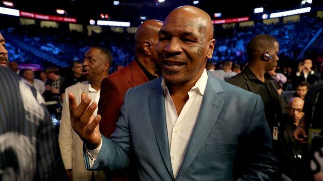 Mike Tyson, en una velada de boxeo.