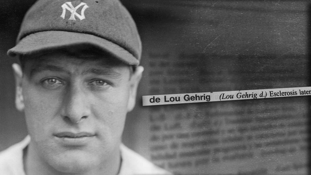 El jugador Lou Gehrig padeció la enfermedad que lleva su nombre