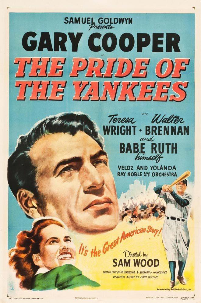 Cartel original del la película El Orgullo de los Yankees