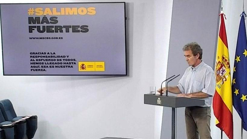 Fernando Simón, en la comparecencia de prensa