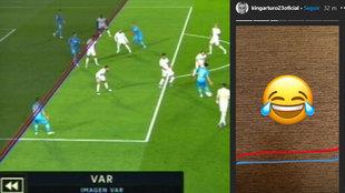 ¿Se mofa Arturo Vidal del VAR en el gol anulado al Valencia contra el Real Madrid?