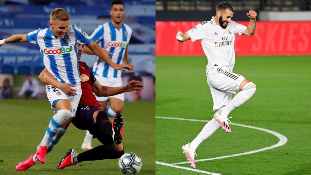 Apuestas LaLiga: Cuotas y claves para pronsticos del Real Sociedad-Real Madrid: el 'morbo' de Odegaard y el momento Benzema