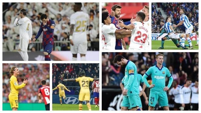 El Barcelona se empequeñece contra los grandes
