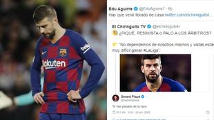 """Piqué, a Edu Aguirre: """"Te has pasado de la raya"""""""