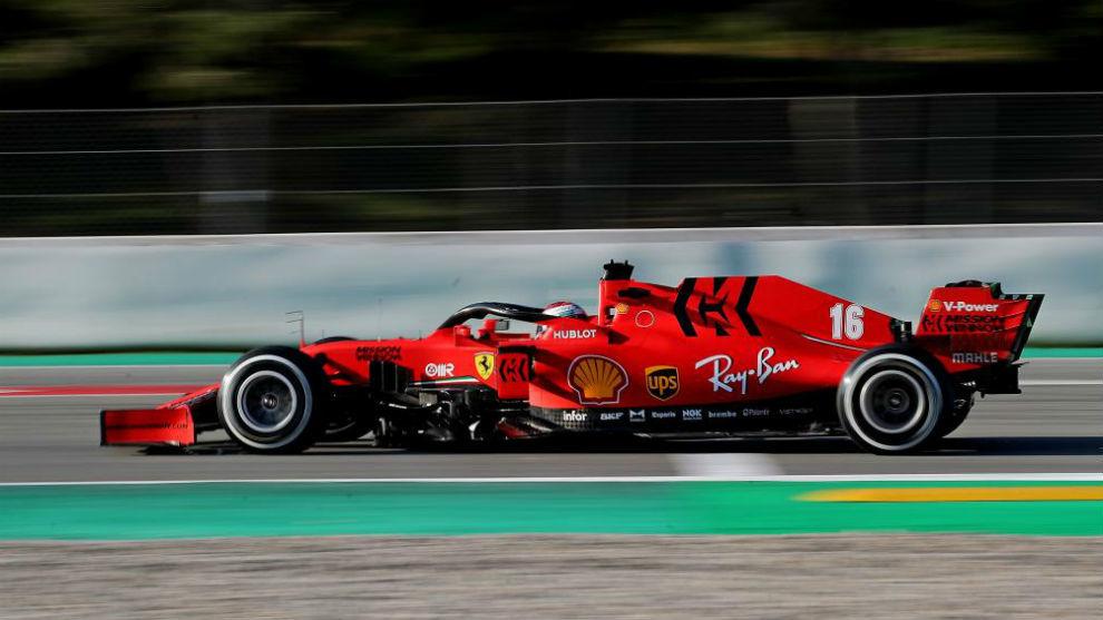 Charles Leclerc, con Ferrari.