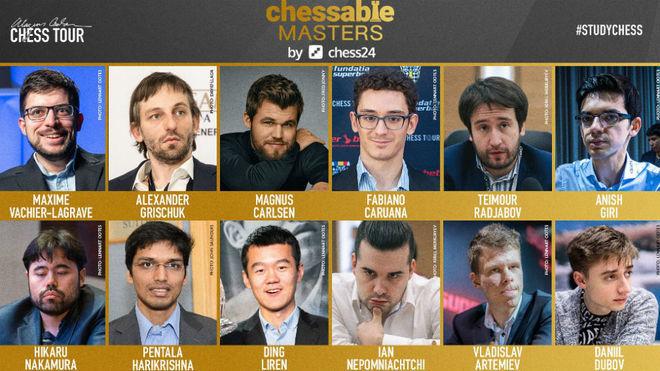Primera jornada del Chessable Masters, en directo