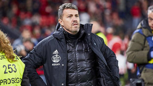 Óscar, entrenador del Celta. LARREINA/UGSMARCA