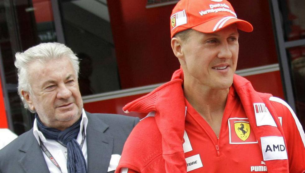 Willi Weber y Michael Schumacher, durante la etapa del alemán en...